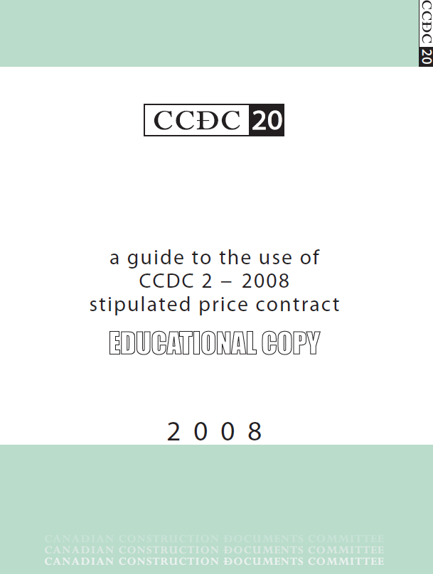 A Guide to the use of CCDC 2-2008 Stipulated Price Contract