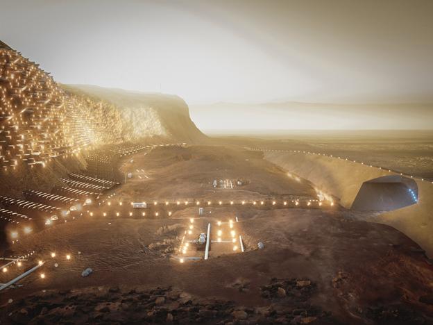 مدينة في المريخ خلال هذا القرن